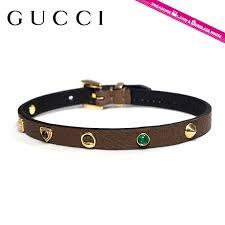 gucci bracelet gucci 324272 j1668 8524 brown lucky charms lucky charms leather leather las men s
