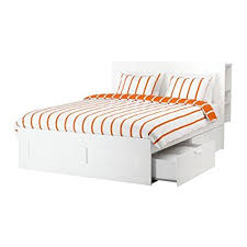 white queen size bed frame. Ikea Queen Size Bed Frame With Storage \u0026 Headboard, White, Luröy 22386.82920.220 White