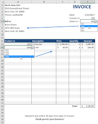 Pdf Invoices Inspiration Automated Invoice In Excel Easy Excel Tutorial