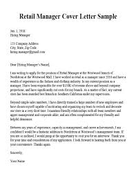 Example Of Executive Cover Letters Retail Manager Cover Letter Sample Resume Companion