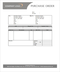 Purchase Order Template 18 Download Free Documents In Pdf Word