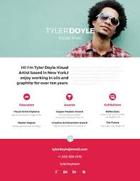 Visual Resume Templates Best Established Visual Artist Resume Templates By Canva
