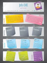 Modern Resume Color Modern Resume Cv Curriculum Vitae Template Design With Notices