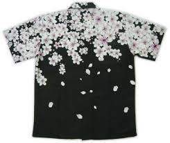 和柄アロハ メンズ 和柄 ウエア半袖 男性用ウェア桜 イラスト 服洋服