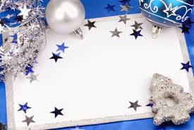 christmas vector template card text printable for photoshop psd blue silver stars white text edit area theme