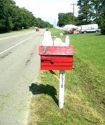 Rural Mailbox Ideas Rural Mailbox Post Ideas Mail Box Best About