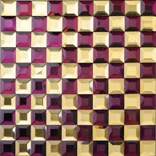 glass mosaic tile kitchen backsplash purple gold mirror tiles diamond crystal mosaic bath mirrored wall