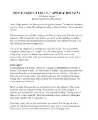 example college admission essay examples of college admission essays about yourself college