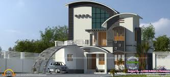 Ground floor area : 1548 Sq.Ft. First floor area : 479 Sq.Ft. Total area :  2027 Sq.Ft. No. of bedrooms : 4. Design style : Curved roof contemporary