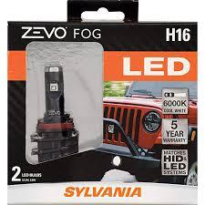 Sylvania Zevo Fog Lights Sylvania H16 Zevo Fog Led Premium Quality Plug And Play Led Fog Lights Bright White Light Output Matches Hid Led Headlight Lighting Systems