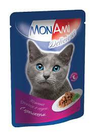 Консервы <b>MON AMI</b> DELICIOUS для <b>взрослых</b> кошек с кроликом в ...