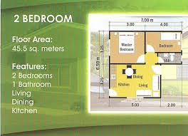 2 bedroom house floor plans philippines design