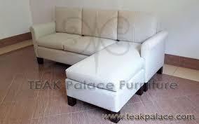 sofa sudut l minimalis jati ruang nonton tv