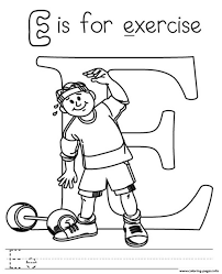 Small Picture Printable Coloring Pages Exercise Coloring Pages
