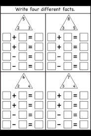 Numbers Fact Family Free Printable Worksheets Worksheetfun