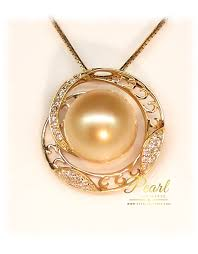 golden south sea pendant