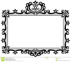 Photo Frame Design Black And White Royalty Free Stock Photo Picture