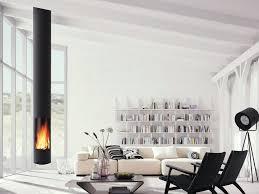 wood burning central hanging fireplace slimfocus
