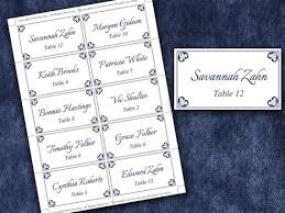 Place Setting Template Gorgeous Wedding Place Cards Microsoft Word Template Antique Chic Navy