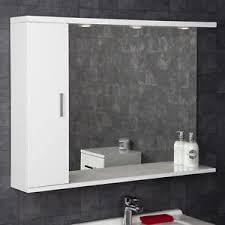 illuminated cabinets modern bathroom mirrors. Image Is Loading 1050mm-Modern-Bathroom-Mirror-Cabinet-Illuminated -White-Gloss- Illuminated Cabinets Modern Bathroom Mirrors T