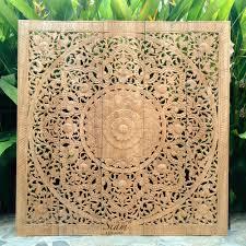 carved wall hanging mandala wood panel 01