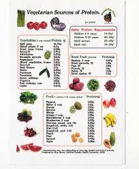 Vegetable Comparison Chart Vegetarian Sources Of Protein Vegetarian Protein Sources