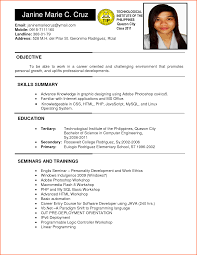 Sample Resume For Ojt Computer Science Students ojt sample resume Savebtsaco 1