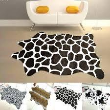 zebra print rugs animal rug giraffe cm leopard tiger cow faux cowhide tricolor runners images zebra print rugs