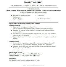 Resume Writing Samples Carpenter Job Description For Resume Writing Resume Sample 69