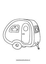 Kleurplaat Caravan Camper Camping Vakantie