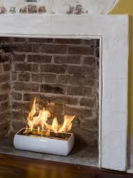 Avani White Portable Fireplace by Brasa :: perfect for a non-working  fireplace