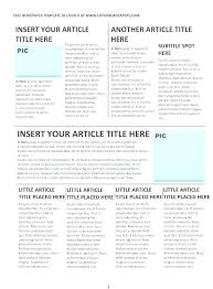 Fake Newspaper Template Word Gallery Of Publisher Newsletter Template Free Awesome