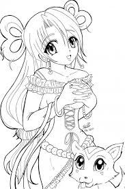Small Picture Anime Princess Cartoon Coloring Pages Cartoon Creative Anime