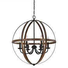 modern farmhouse chandelier orb pendant lamp round light fixture rustic globe
