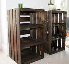 wooden crate furniture. Wooden Dog Crate End Table Design Ideas For Pleasant Furniture Crates