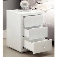 white glass furniture. VEGAS White Glass Mirrored Bedside Table - Mirror Furniture
