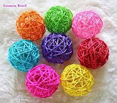 Decorative Balls For Bowls Diy Delectable Amazon Christmas Gifts Big MultiColored Balls Wicker Ball