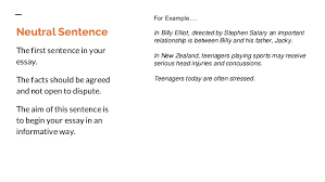 l essays for beginners 13 neutral sentence the first sentence in your essay