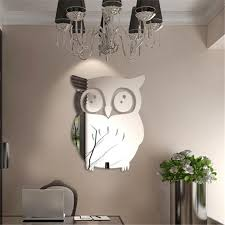 new 3d owl mirror vinyl removable wall sticker decal home decor art stranger things poster wall stickers for kids rooms home decoration stickers home