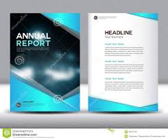 Leaflet Design Portfolio Blue Annual Report Template Vector Illustration Stock Vector