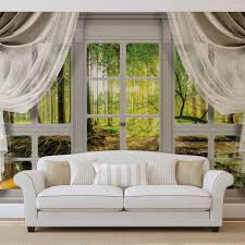 image is loading wall mural photo wallpaper l curtains window view