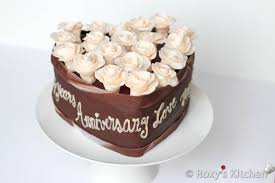 Chocolate Hazelnut Heart Shaped Cake 2013 Wedding Anniversary