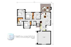 four bedroom house plans drawing for