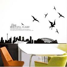 city landscape with seagull love beautiful flight wall art decals on flight wall art with city landscape with seagull love beautiful flight wall art decals
