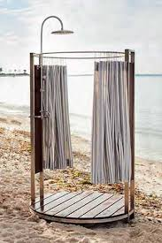 outdoor shower with privacy enclosure