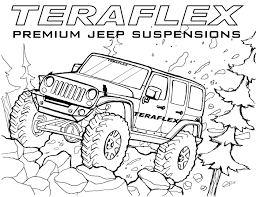 Small Picture Jeep Coloring Pages To Download And Print For Free Inside Coloring
