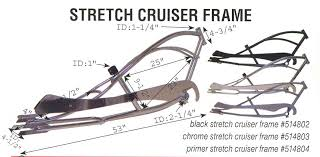 stretch chopper bicycle frame