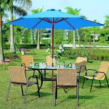 Patio Ideas Lowes Market Umbrella Garden Treasures fset