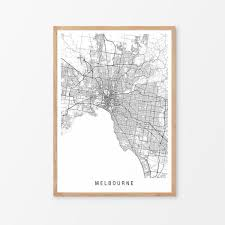 Locate melbourne hotels on a map based on popularity, price, or availability, and see tripadvisor reviews, photos, and deals. Melbourne Minimalist Map Print Hardtofind