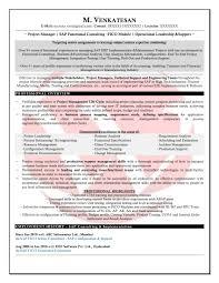 Sap Fico Sample Resumes Sap Bi Sample Resume For 2 Years